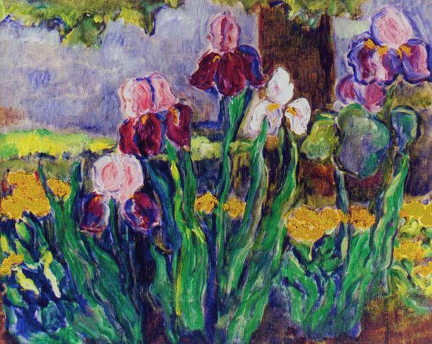 Lirios lilas (60x70 cm), óleo sobre tela, 1999.